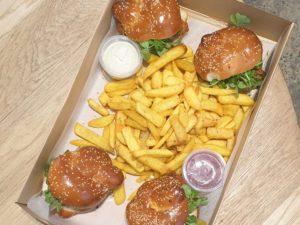Chicken schnitzel burger party