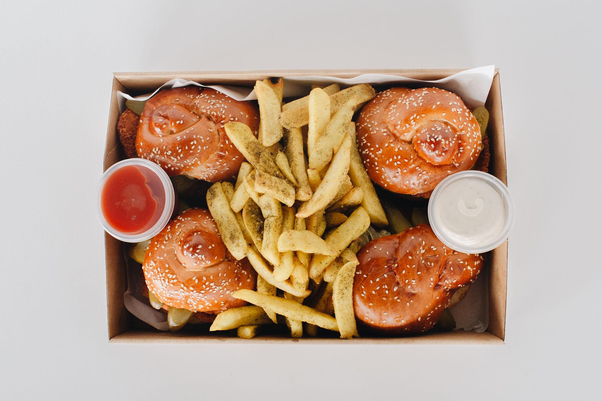 Chicken Schnitzel Burger Party Boosa