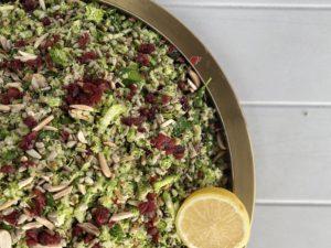 Broccoli 'couscous' salad