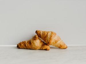 Mini plain croissants