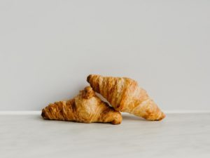 Mini ham and cheese croissants
